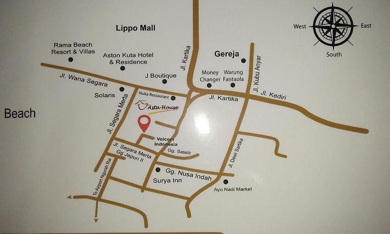 Asta House Guest house Kuta (Bali) on goa hotel map, dallas hotel map, patong beach hotel map, houston hotel map, austin hotel map, toronto hotel map, istanbul hotel map, geneva hotel map, chicago hotel map, penang hotel map, amsterdam hotel map, hanoi hotel map, buenos aires hotel map, singapore hotel map, denver hotel map, kent hotel map, bali hotel map, heidelberg hotel map, orlando hotel map, dubai hotel map,